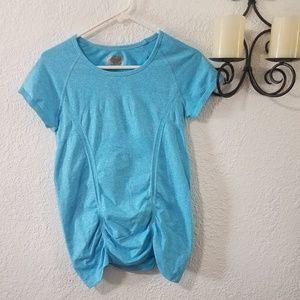 Athleta fastest track Tee shirt blue